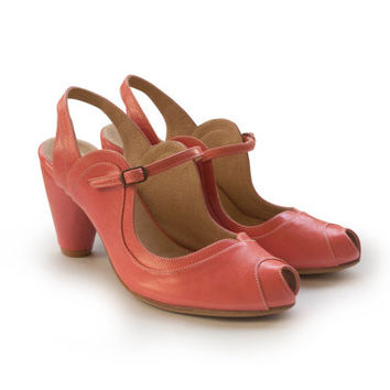 Sale! 47% off. Pink Marnie sandals, leather handmade shoes, women heels shoes, free shipping. pumps.