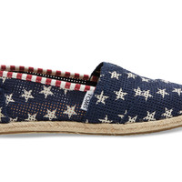 TOMS Navy Freetown Star Women's Classics Blue