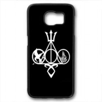 Harry Potter, Percy Jackson, Mortal Instruments, Hunger Games, and Divergent for samsung galaxy s6 case
