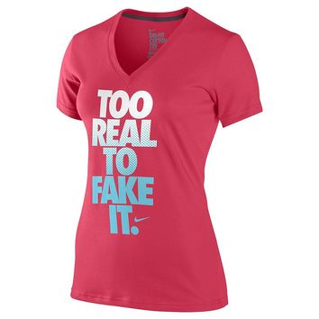 Nike ''Too Real To Fake It'' Tee - Women's, Size: