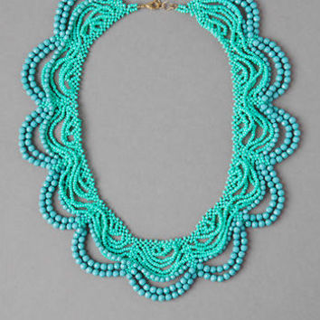 PEEBLES SCALLOPED SEED BEAD NECKLACE