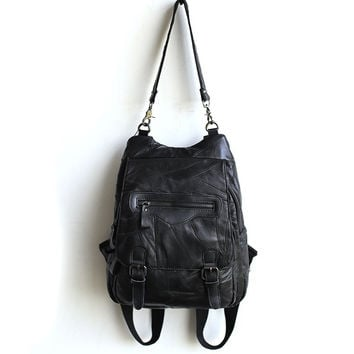 Back To School Hot Deal On Sale Stylish College Comfort Leather Casual With Pocket Vintage England Style Backpack [6049527745]