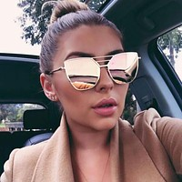 Women's Vintage Styled Mirrored Sunglasses