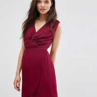Wal G Dress With Knot Front at asos.com