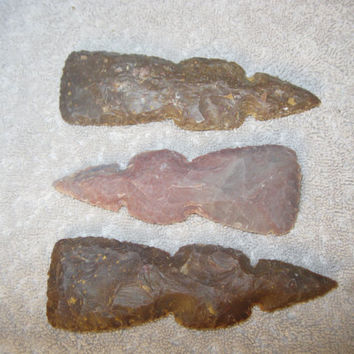 3 Agate tomahawk heads......3AT4...ax head...hatchet head...axe head...replica primitive stone tools..,replica native american tools