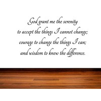 The Serenity Prayer Bible Wall Quote