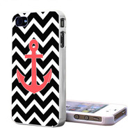 Chevron  Anchor Black iPhone S4 , iPhone 5 , iPhone 4 , Galaxy S3 , Galaxy S4 Case - Fast Shipping from USA