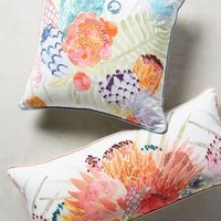Majorcan Garden Pillow by Anthropologie in Multi Size: