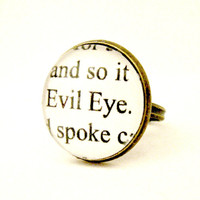 Halloween Jewelry Halloween Ring Halloween Wedding Ring Edgar Allen Poe Tell Tale Heart Horror Story Halloween Party Ghost Story Creep Scary