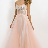Strapless Sequin Ball Gown by Blush