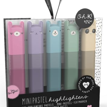 Oh K! Mini Highlighters - Fun Pastels and Character Toppers!