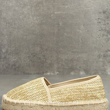 Dirty Laundry Emilio Natural Espadrille Flats
