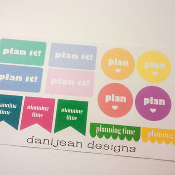 Planning time sticker sets, planner stickers, planner supplies