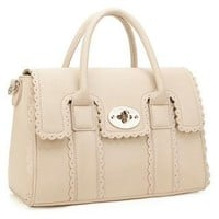YESSTYLE: 19th Street- Scalloped-Trim Satchel (Beige - One Size) - Free International Shipping on orders over $150