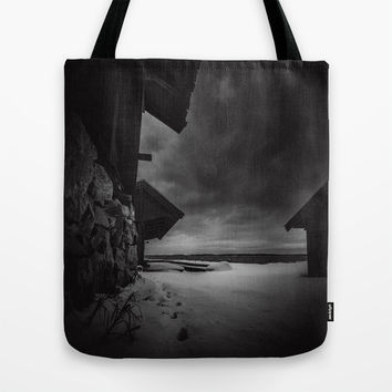 Frozen in time Tote Bag by HappyMelvin