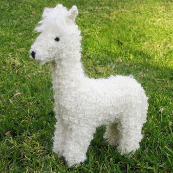 Ally the Alpaca Toy Knitting Pattern, Waldorf, PDF, Instant Digital Download