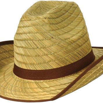 genuine cowboy hat with brown trim & band Case of 60
