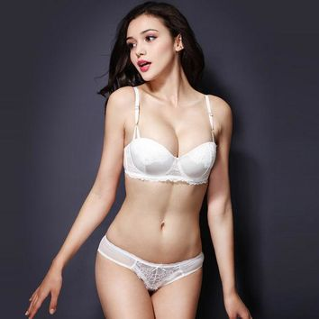 ac DCCKB5Q Thick Long Hot Sale Hot Deal Ladies Bra Set Shiny Sexy Cup Permeable White Underwear False Eyelashes [6757929731]