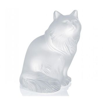 Lalique Sculpture Clear Figurine HEGGIE CAT #1179600