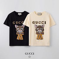 GUCCI Men Womens Cotton T-shirt