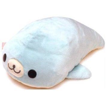 San-x Mamegoma Plush 13'' Blue