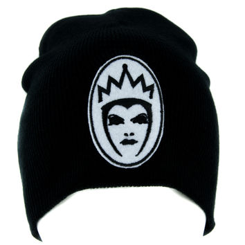 Evil Queen of Snow White Beanie Knit Cap Dark Goth Alternative Clothing Brothers Grimm