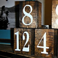 Wedding Table Numbers - Rustic Table Numbers - Table Numbers - Rustic Wedding - Barn Wedding - Wedding Decor - Double-sided Number Sets