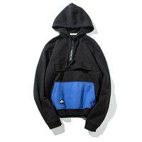 Men's Fashion Boyfriend With Pocket Hoodies Patchwork Hats Jacket [7929495363]