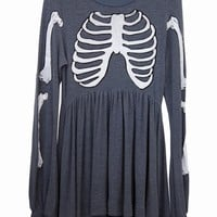 SKELETON - LONDON BABY DOLL DRESS at Wildfox Couture