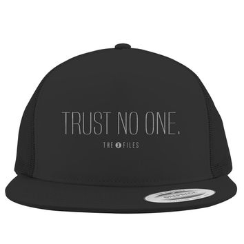 Trust No One The X Files Embroidered Trucker Hat