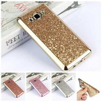 Glitter Bling Back Cover for Samsung Galaxy J3 J5 J7 2017 A3 A5 A7 J1 2016 S8 Plus S6 S7 Edge Grand Prime Phone Cases