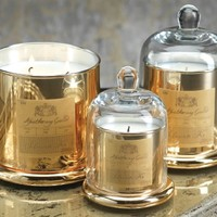 Zodax Apothecary Guild Scented Candle Jar with Glass Dome - Gold / Small
