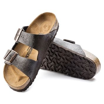 Sale Birkenstock Arizona Birko Flor Animal Fascination Brown 1006650 Sandals