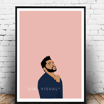 The Weeknd merch, The weeknd poster, The weeknd print, The weeknd wall art, The weeknd poster art, Starboy poster, The weeknd starboy print