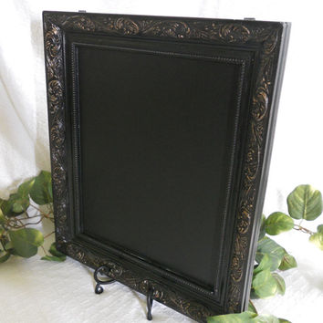 Black, large FRAMED chalkboard . Big framed chalkboard. Large framed chalk board. Wedding decor. Framed chalkboard. Large framed chalkboard.