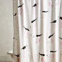 Beach Gull Shower Curtain by Anthropologie in Grey Motif Size: One Size Shower Curtains