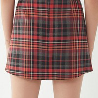 UO Red Checkered Pelmet Mini Skirt | Urban Outfitters