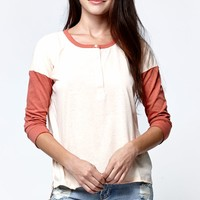 Volcom Down That Block Henley T-Shirt - Womens Tee
