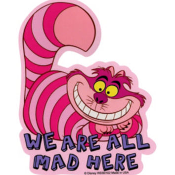 Disney alice in wonderland cheshire cat sticker