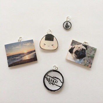 Polymer clay memory charm, memory charm, polymer clay charm,