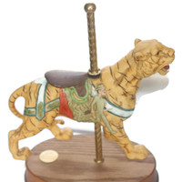 Vintage Musical Tiger Carousel By Tyler Vincent Limited