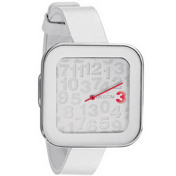 Nixon A162100 Women's The Rocio White Dial White Rubber Strap Watch