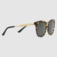 Gucci Round-frame acetate and metal sunglasses