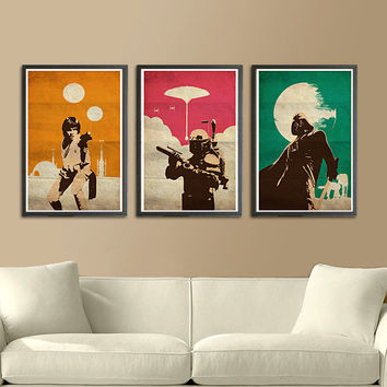 "Vintage Pop Art Star Wars Trilogy for 40 Dollars - 11""X17"" Print"