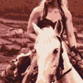Daenerys on Horse Game of Thrones Cross Stitch Pattern