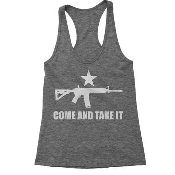 Come And Take It 2nd Amendment Gun Rights Racerback Tank Top for Women