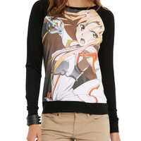 Sword Art Online Asuna Attacking Girls Pullover Top