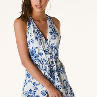 Flower Hour Halter Romper