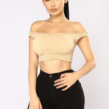 Lucid Dream Crop Top - Nude