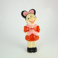 Vintage Minnie Mouse Rubber Toy Disney Rubber Toy Baby Bath Toy, Rubber Toy USA Toy US ARADEANCA Fairy Tale Character